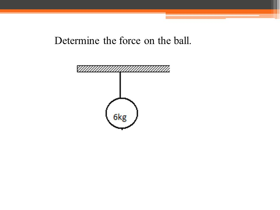 Determine the force on the ball.