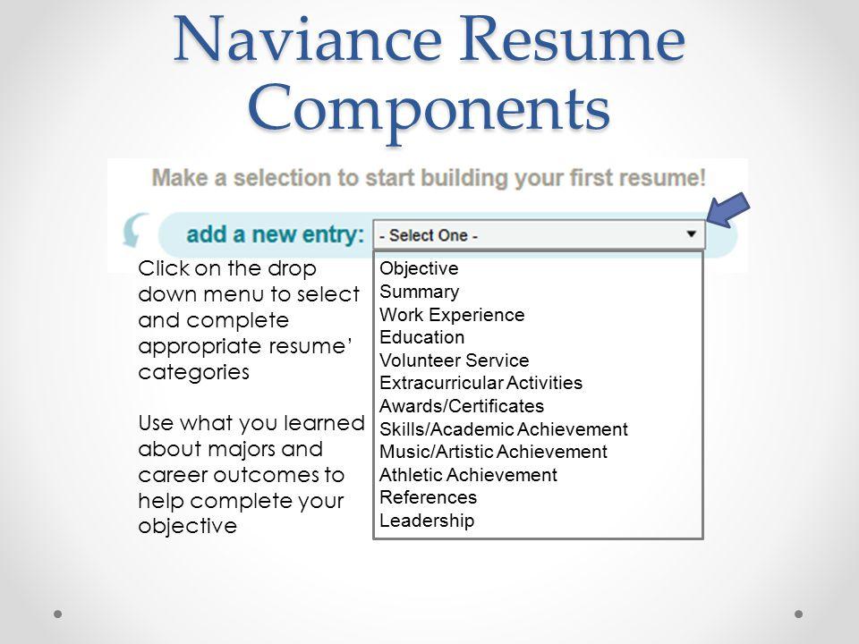 naviance resume