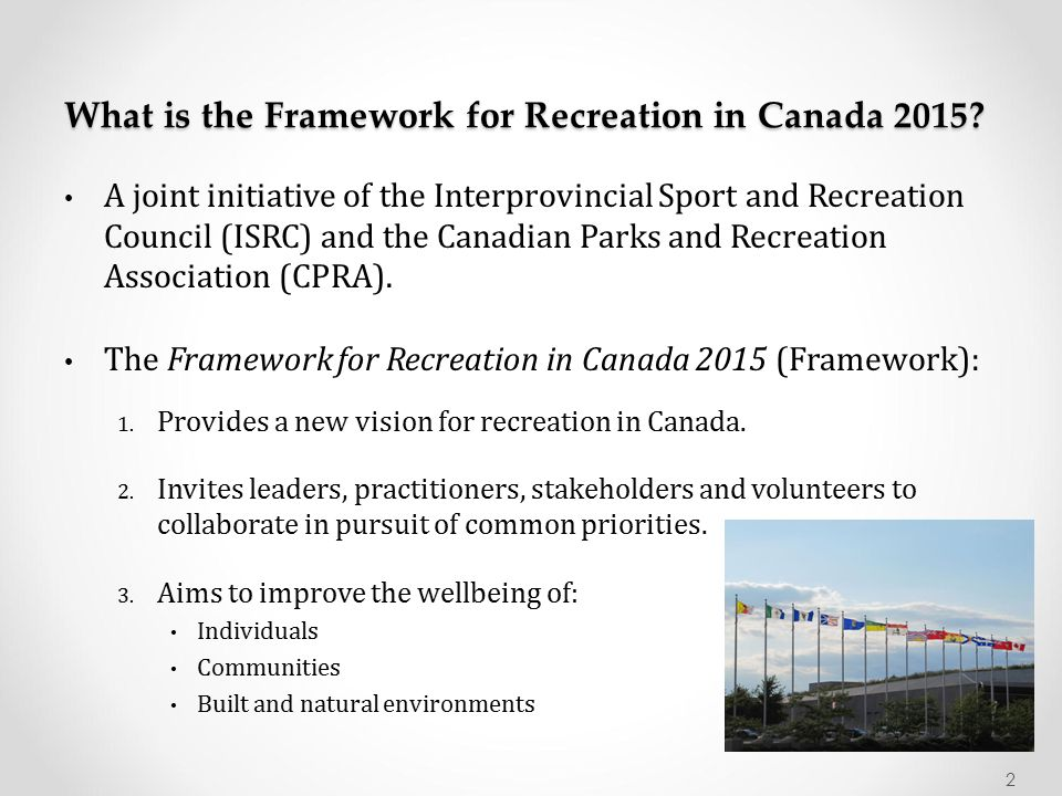What is the Framework for Recreation in Canada 2015