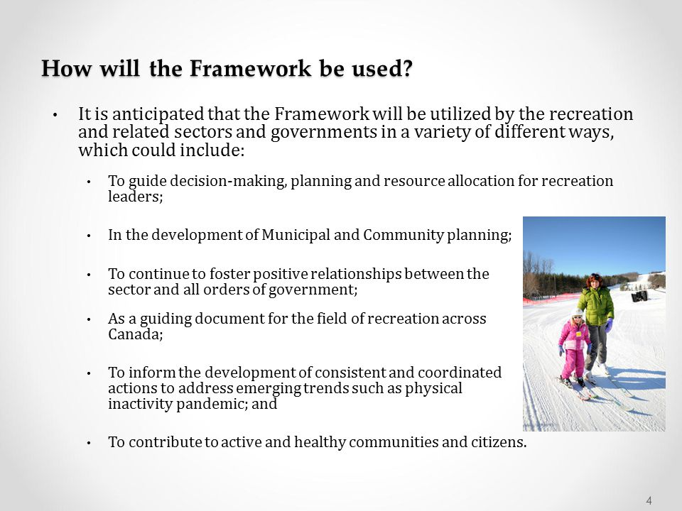 How will the Framework be used