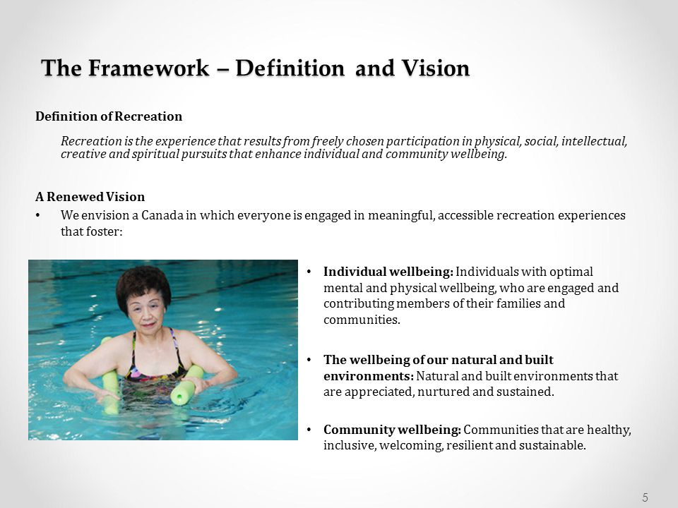 The Framework – Definition and Vision