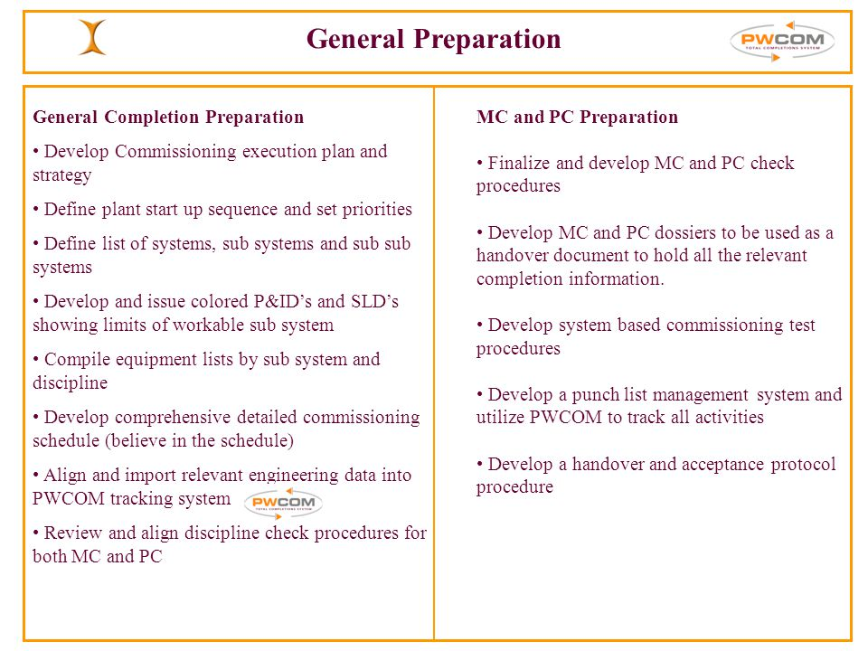 commissioning start up procedure pdf