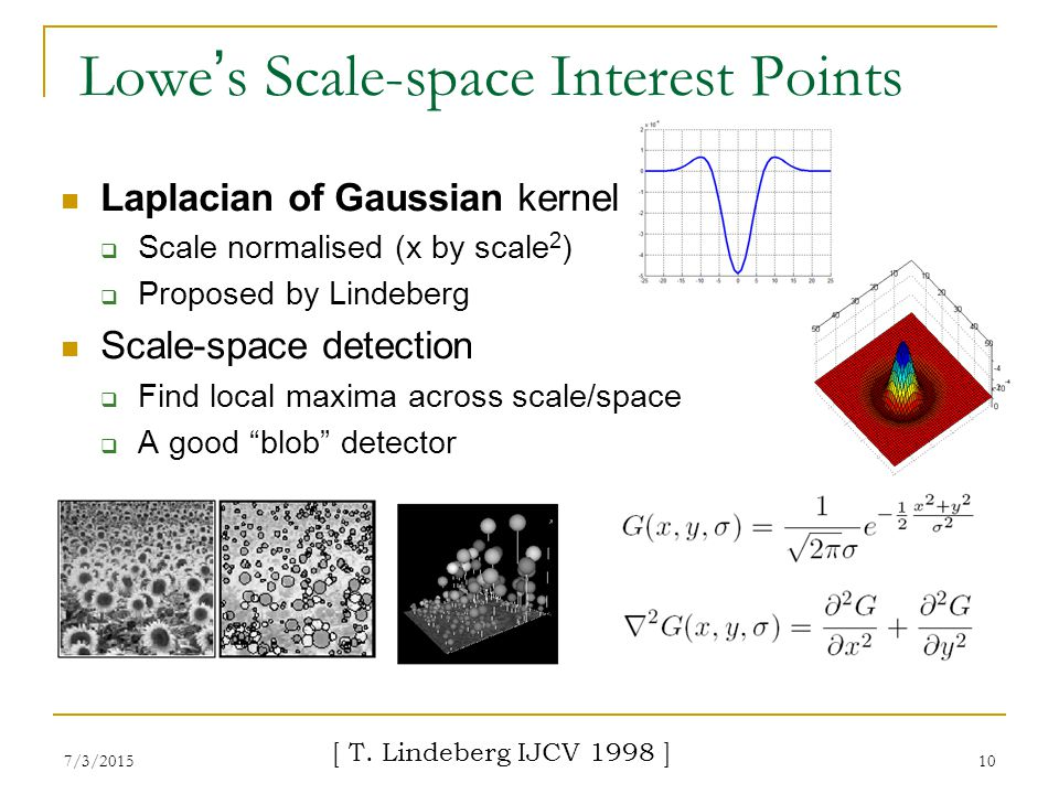 Lowe's Scale-space Interest Points
