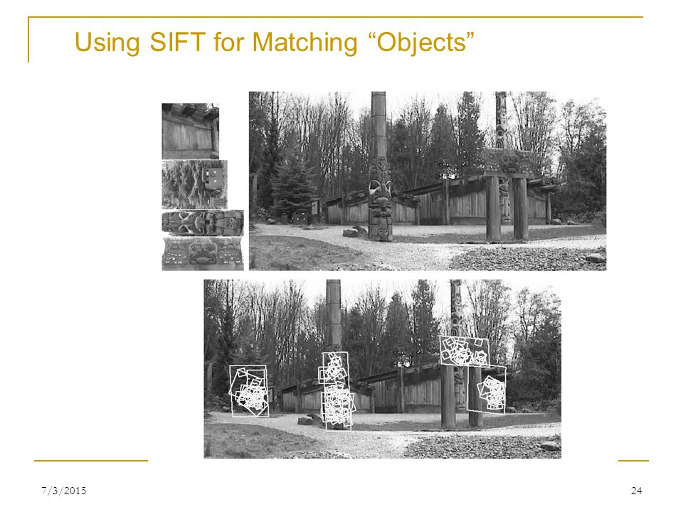 Using SIFT for Matching Objects