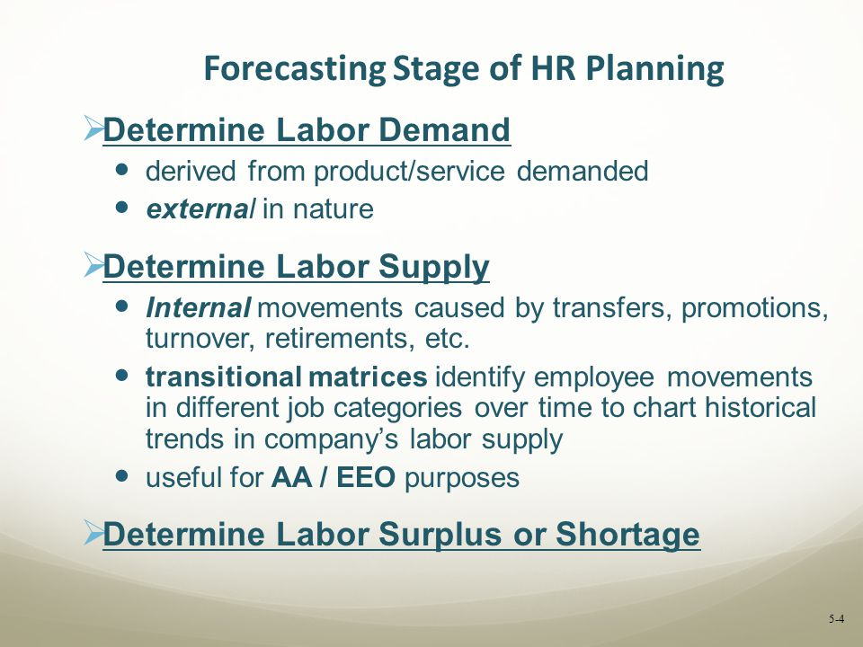 Forecasting Stage of HR Planning