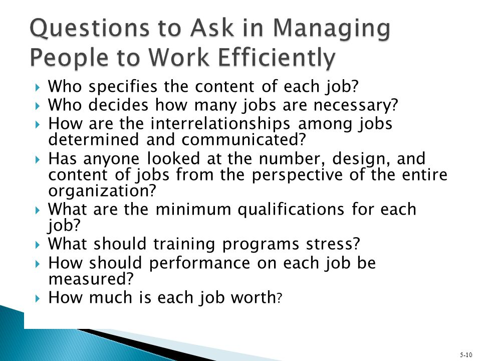 Questions to Ask in Managing People to Work Efficiently