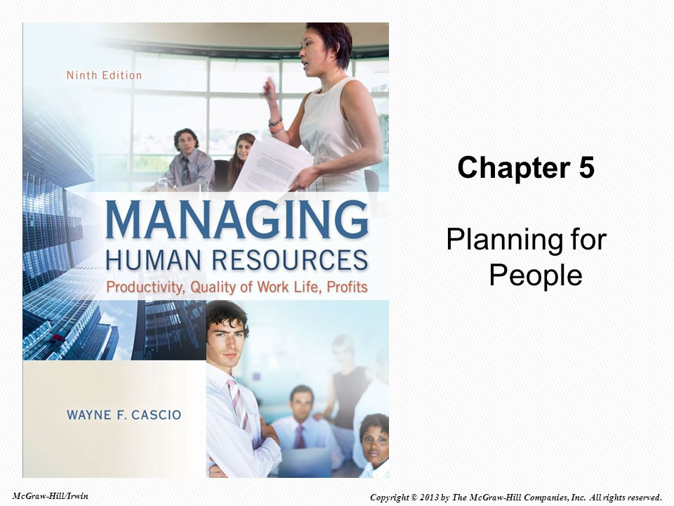 Chapter 5 Planning for People McGraw-Hill/Irwin