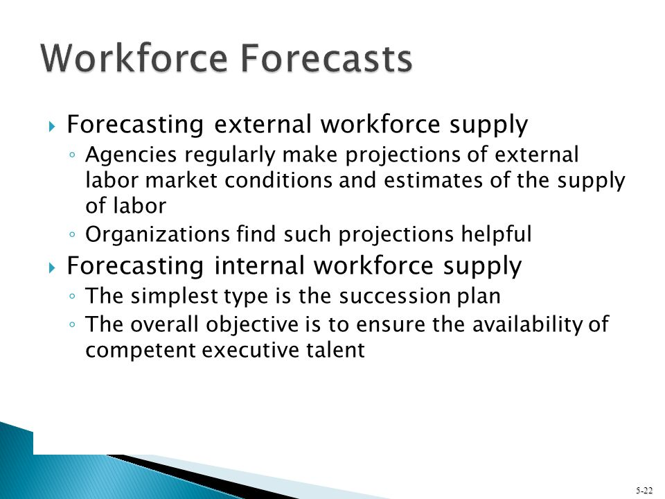 Workforce Forecasts Forecasting external workforce supply