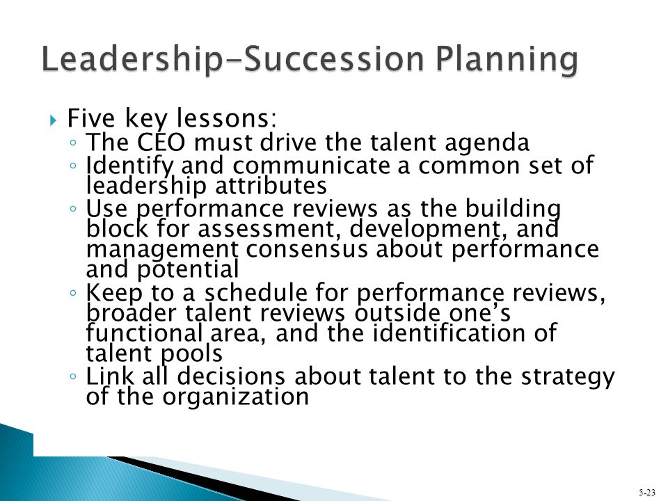 Leadership-Succession Planning