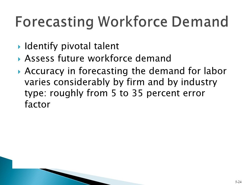 Forecasting Workforce Demand