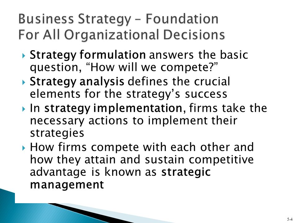 Business Strategy – Foundation For All Organizational Decisions