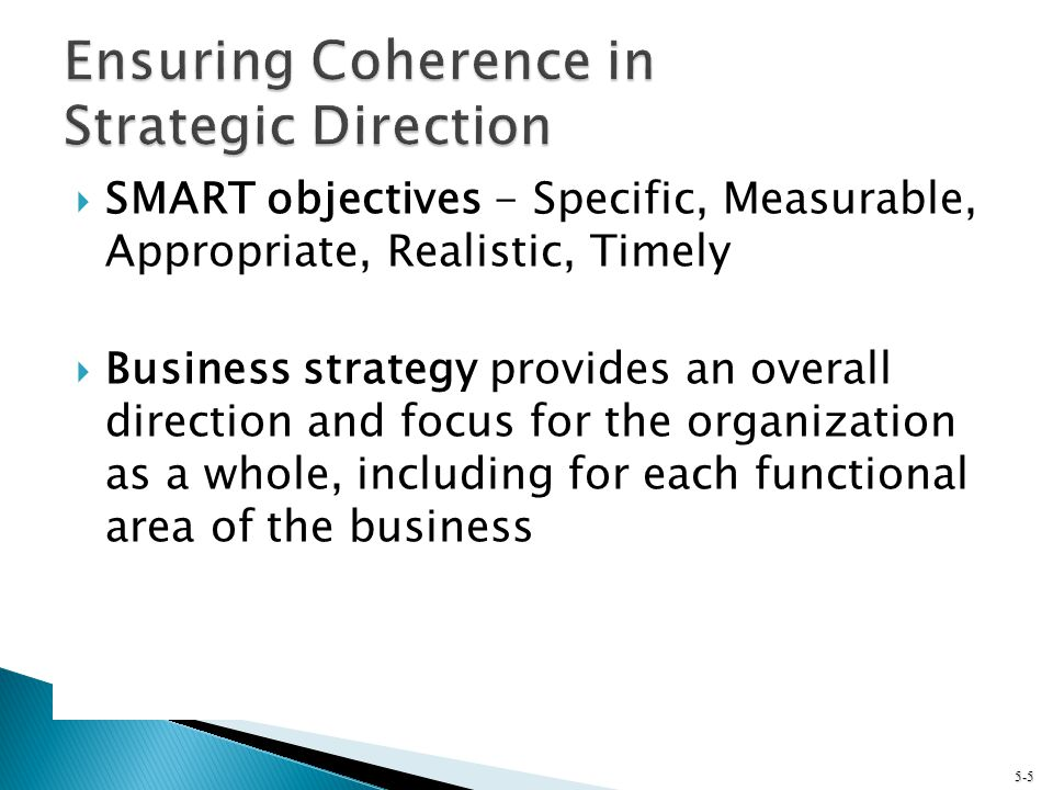 Ensuring Coherence in Strategic Direction