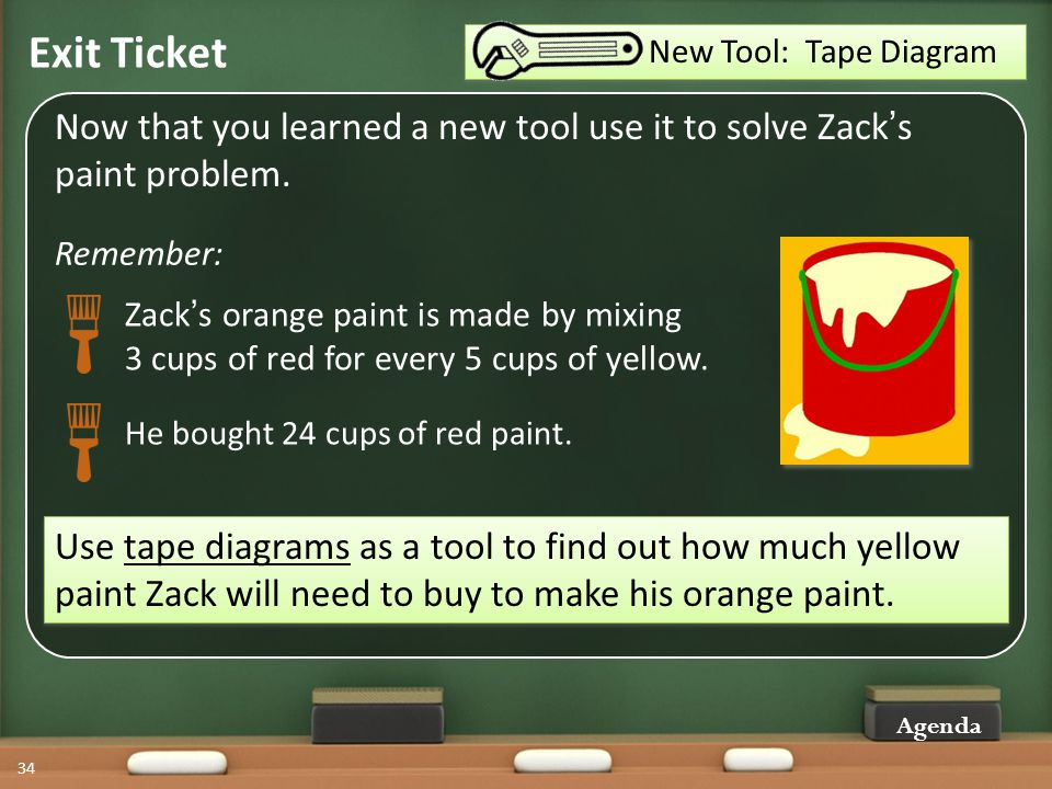 Introduction to tape diagrams ppt download new tool tape diagram exit ticket now that you learned a new tool use ccuart Images