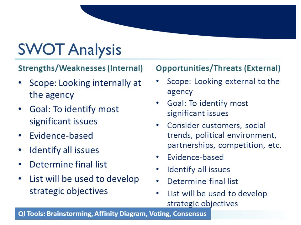 scope swot analysis The swot analysis is part of a company's strategic planning process where it connects its objectives and strategies to actionable tactics carried out by employees.