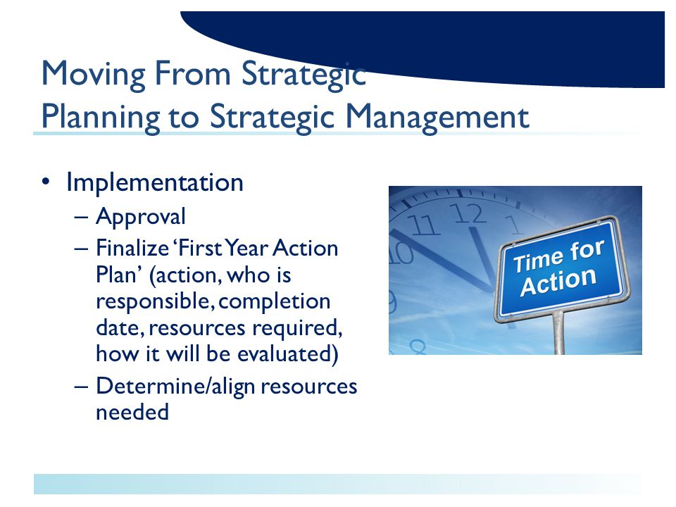 Resource requirements for implementation of new strategy