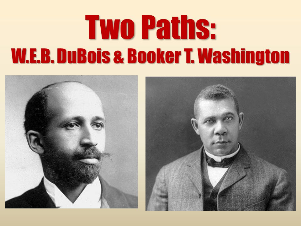 booker t washington vs w e b dubois essay Web du bois vs booker t washington: who was right by san two great leaders of the black community in the late 19th and 20th century were web du bois and booker.