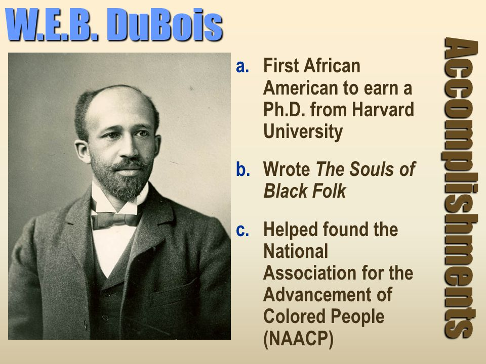 W.E.B. DuBois Accomplishments