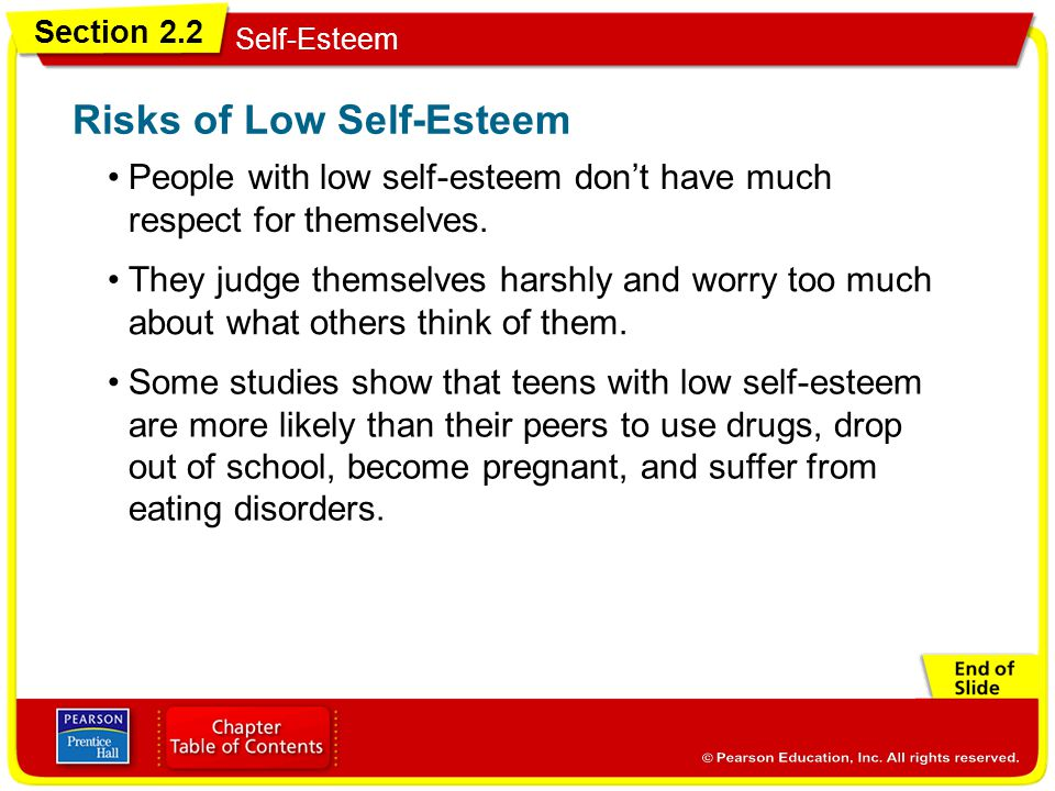 Risks of Low Self-Esteem