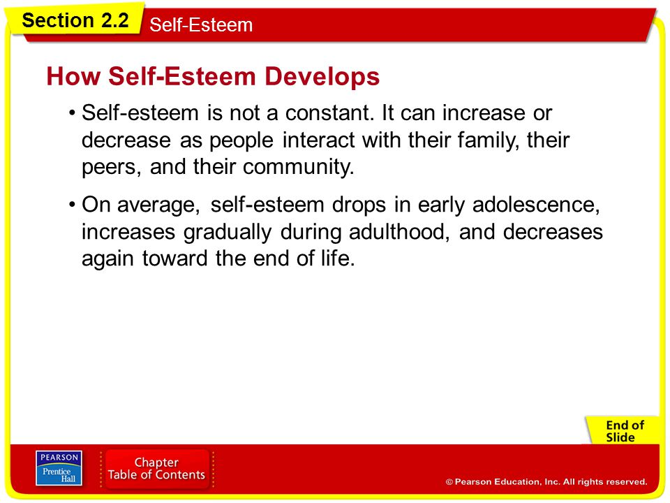 How Self-Esteem Develops