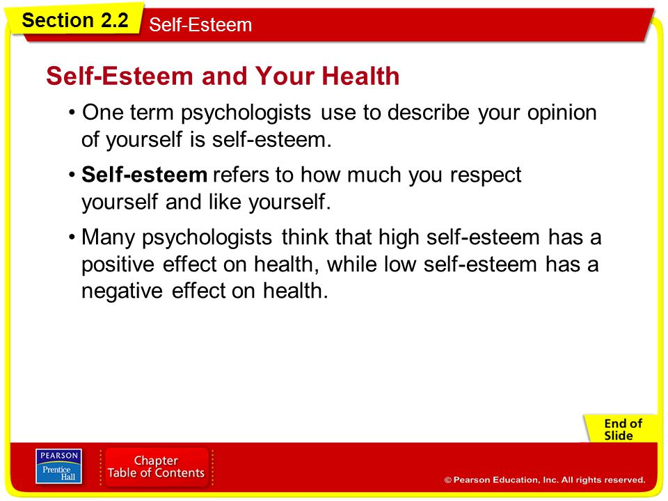 Self-Esteem and Your Health