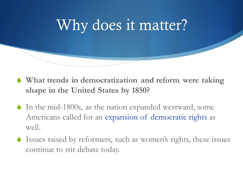 Reform movements in the United States Essay Sample
