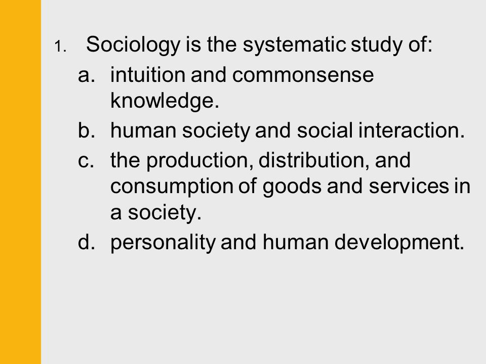 sociology and common sense essay
