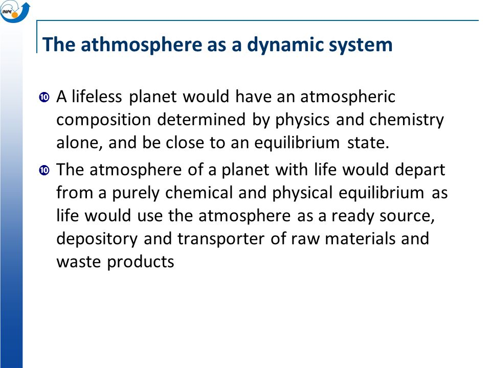 The athmosphere as a dynamic system