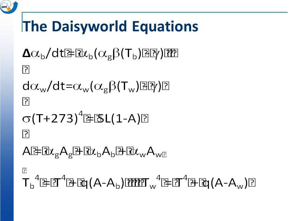 The Daisyworld Equations
