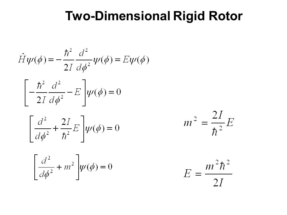 Classical Model Of Rigid Rotor Ppt Download