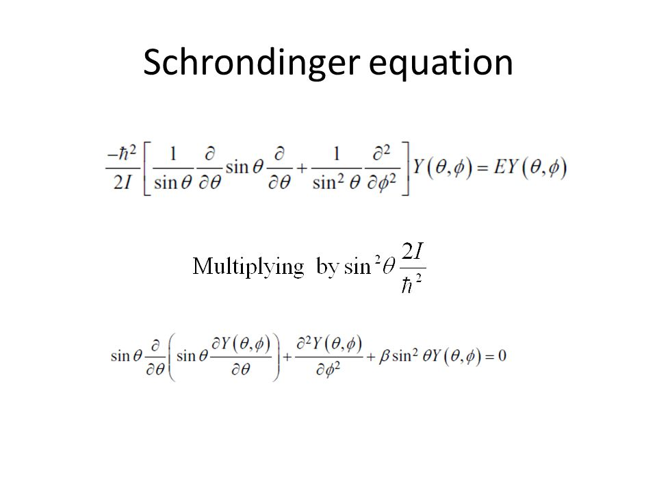 Schrondinger equation