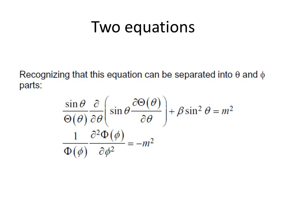 Two equations