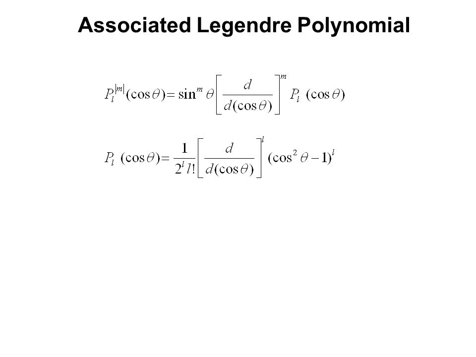 Associated Legendre Polynomial