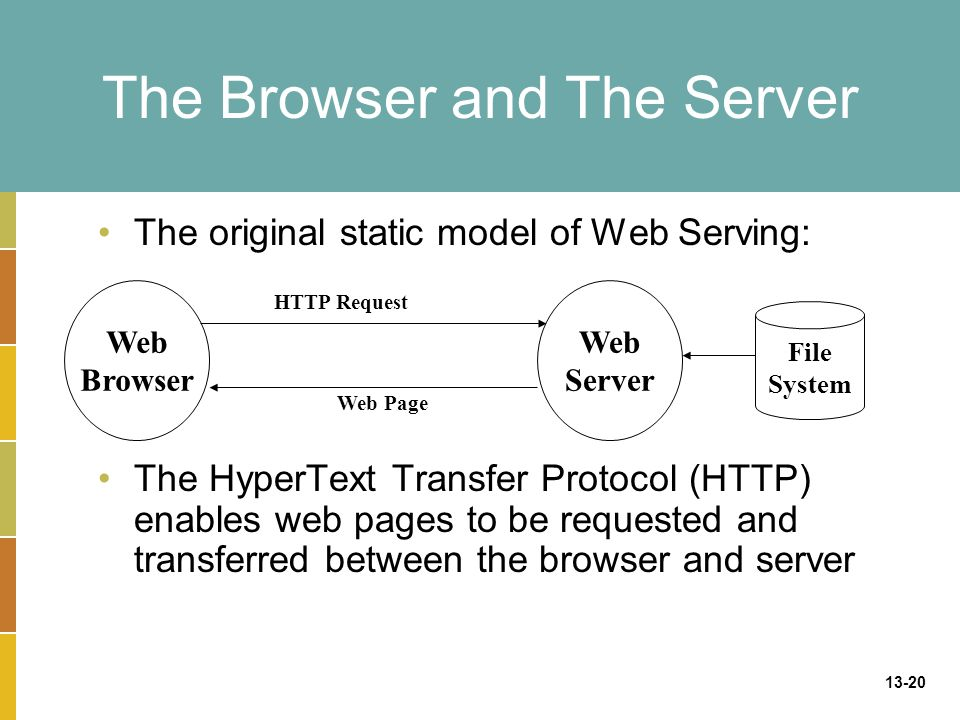 The Browser and The Server