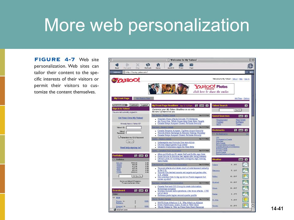More web personalization