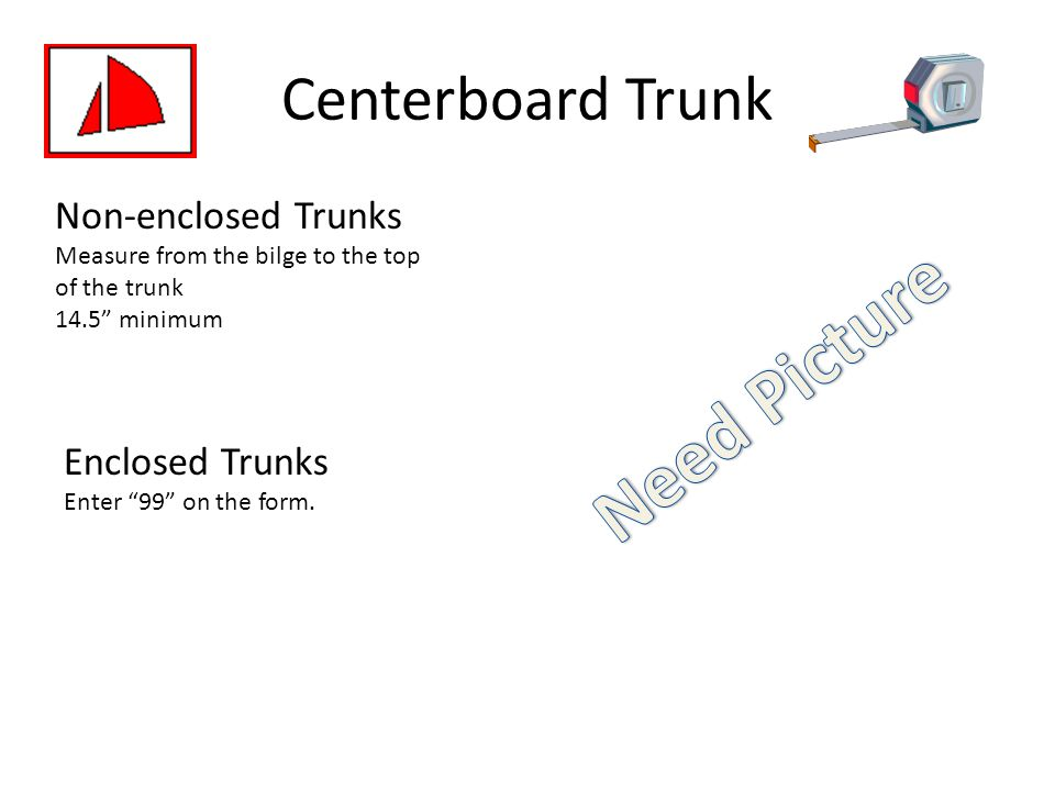 Need Picture Centerboard Trunk Non-enclosed Trunks Enclosed Trunks