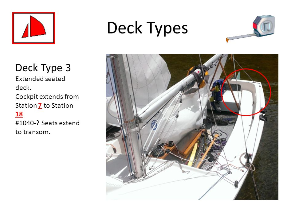 Deck Types Deck Type 3. Extended seated deck.