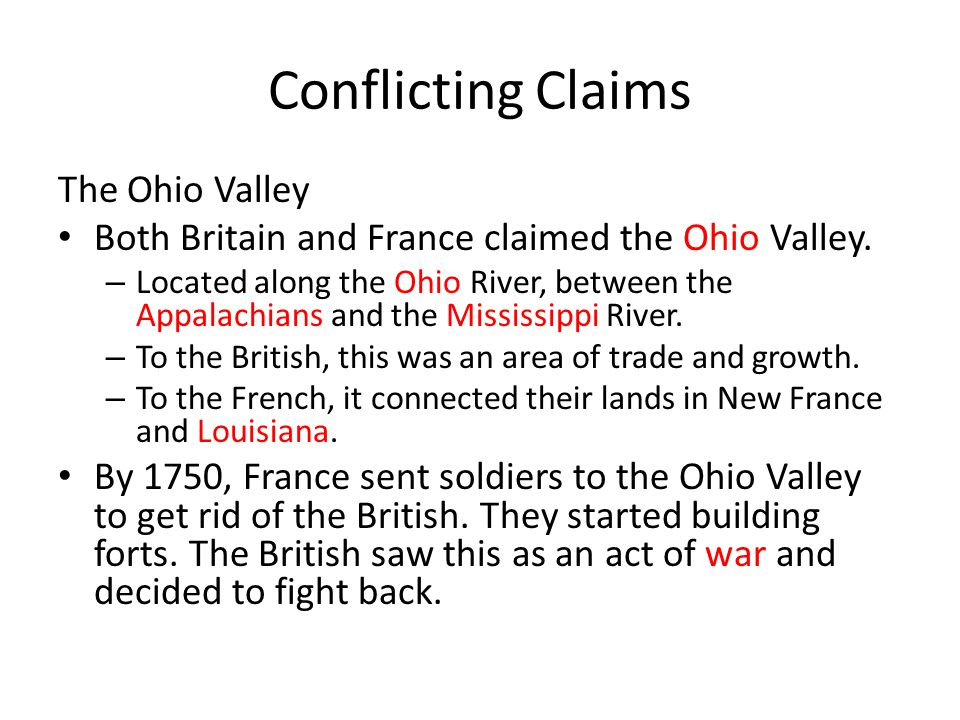 Conflicting Claims The Ohio Valley
