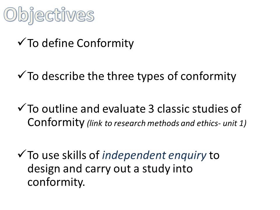 outline and evaluate research into types Outline and evaluate explanations of conformity they accept the majorities' views publicly, but privately they disagree - this type of conformity is compliance outline and evaluate research studies into conformity (12 marks.