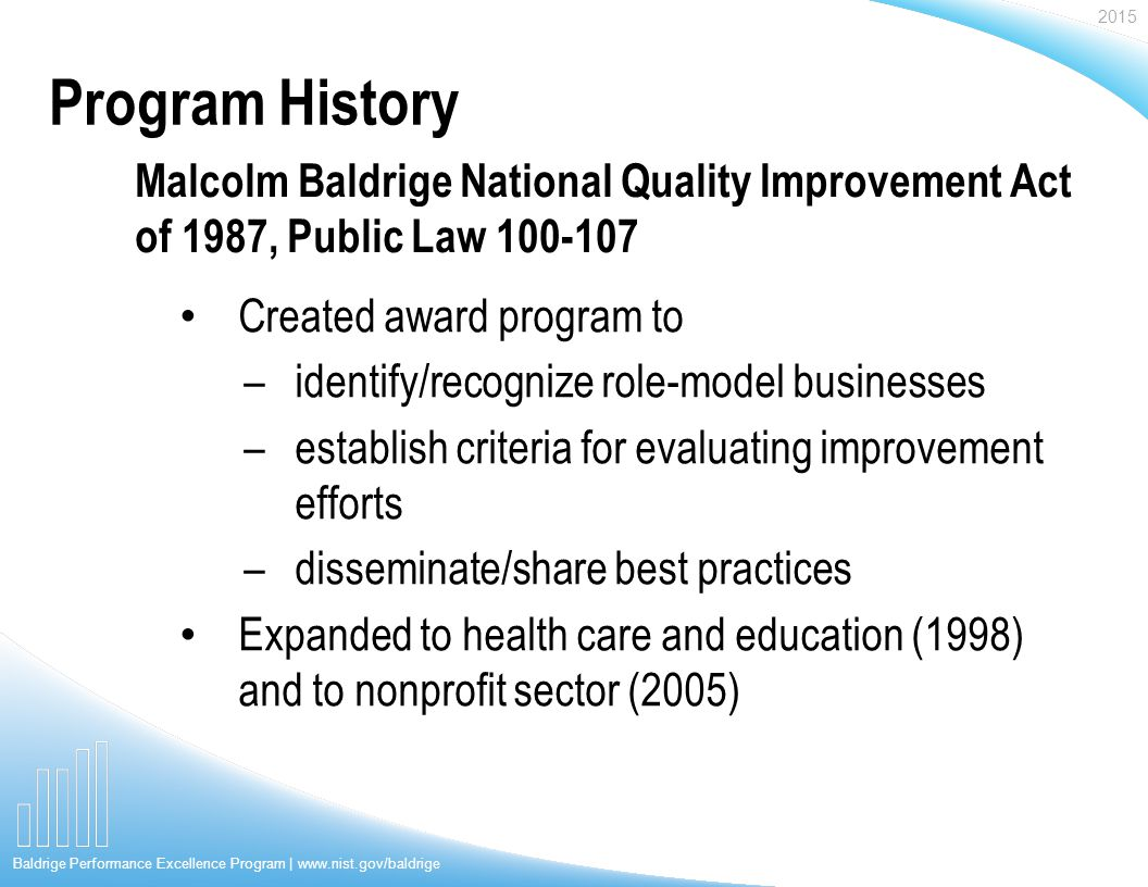 Malcolm Baldrige National Quality Award&nbspEssay