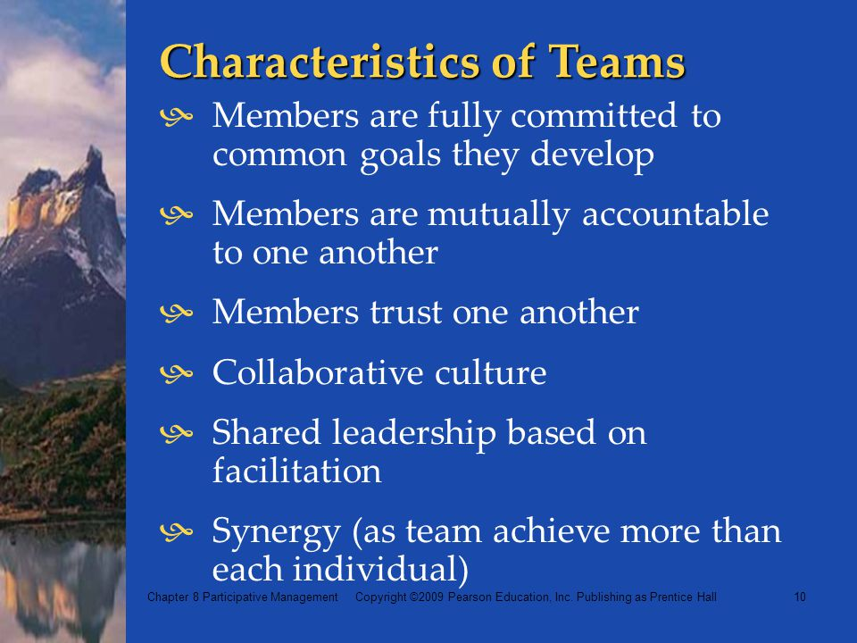 Characteristics of Teams