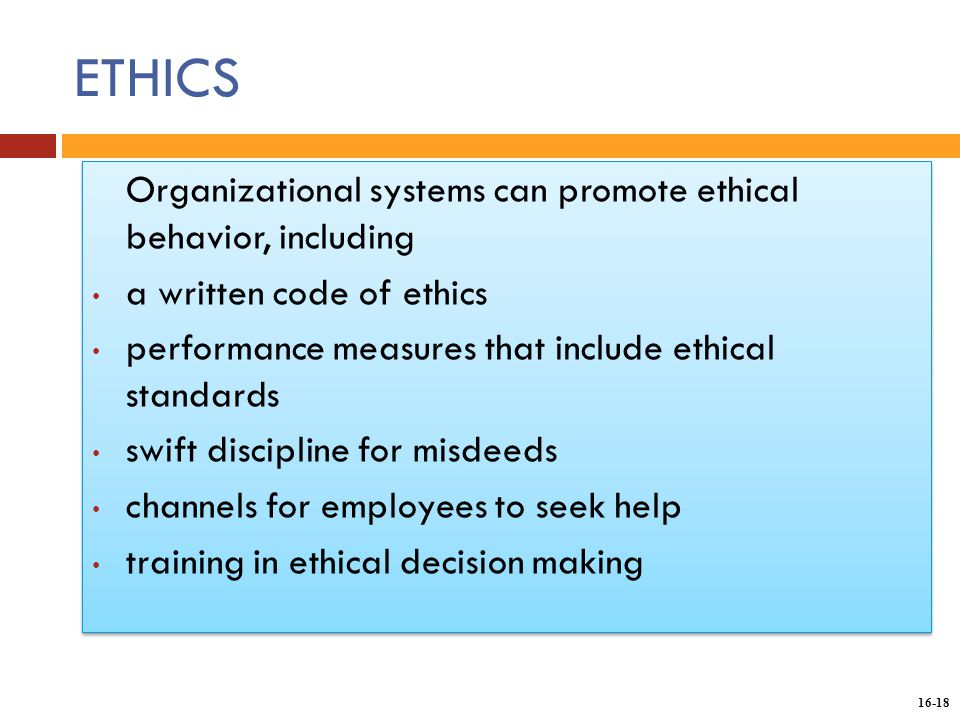 how to develop a system to evaluate ethical behavior Improving ethics quality in health care ethical  through their own behavior and through the programs  leaders in the va health care system have unique.