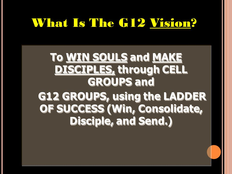 THE G12 CORE VALUES