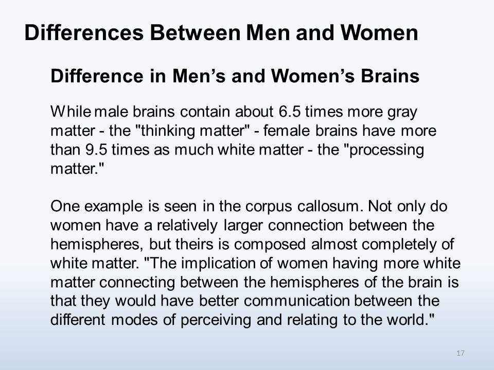 9 Differences Between the Male and Female Brain
