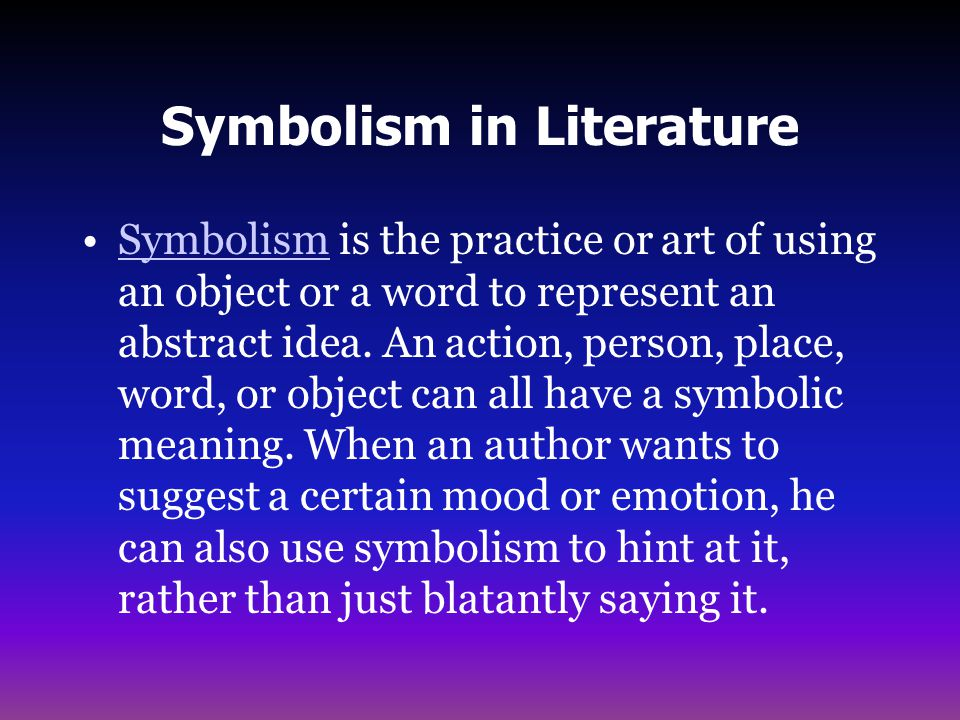 an analysis of symbolism used by the author An analysis of the themes, motifs and symbols themes: mum dying had a profound influence on the books because i had been writing the harry potter series.