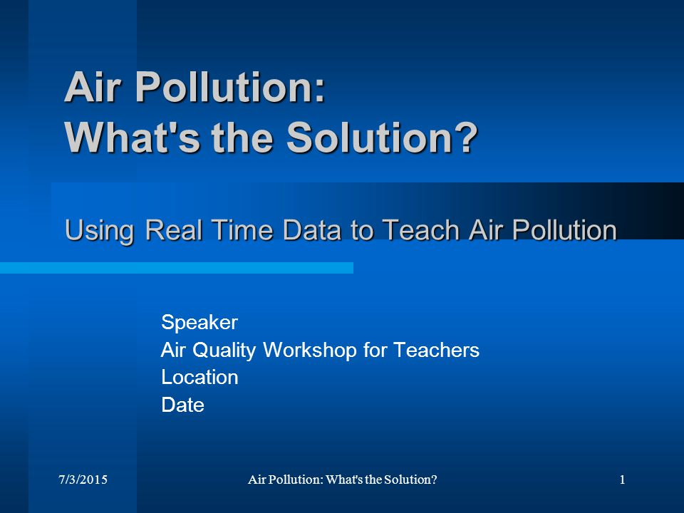 air pollution solution Transportation is a major source of pollution learn about 10 possible solutions  for transportation pollution.
