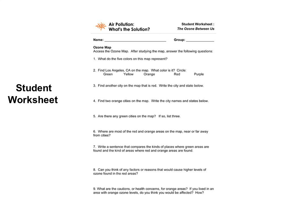 air pollution worksheets middle school air best free printable worksheets. Black Bedroom Furniture Sets. Home Design Ideas