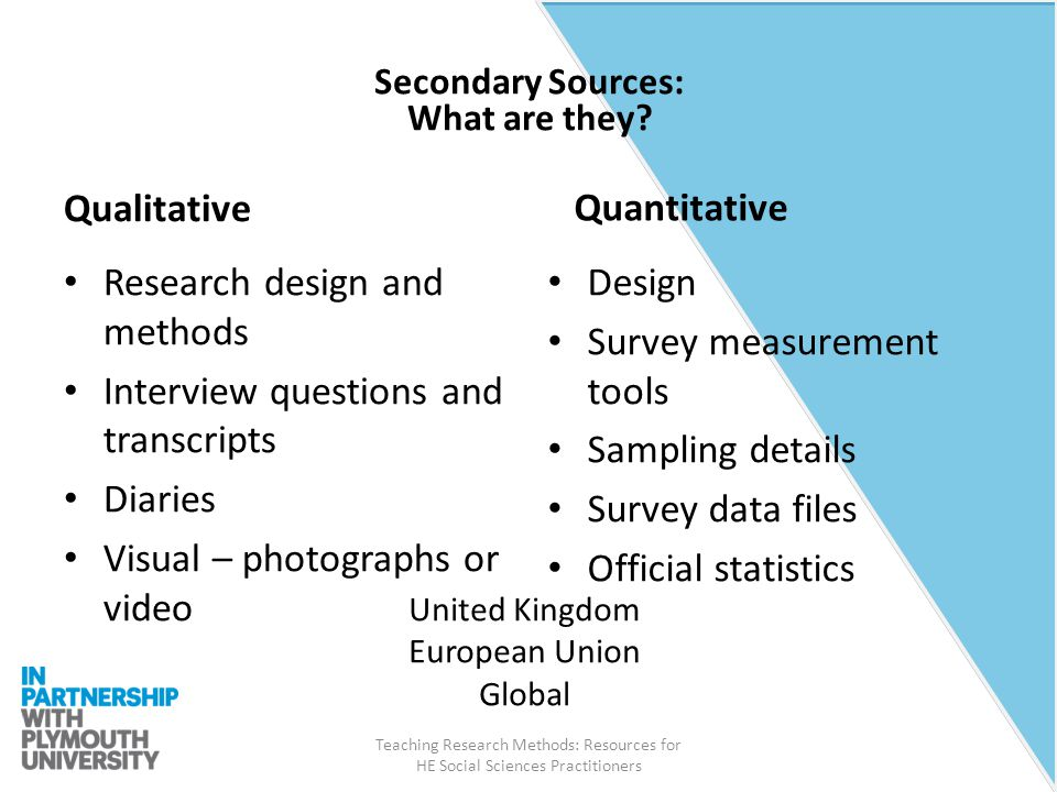 how to write about secondary research tools