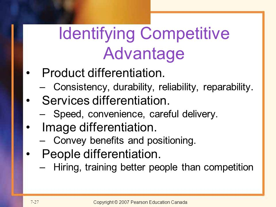 identifying competitive advantage A competitive advantage is simply the answer to: what is your organization best  at your competitive advantage is what your organization does or potentially.