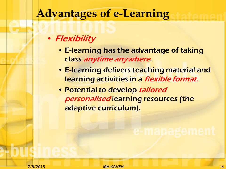 e learning advantages and disadvantages pdf