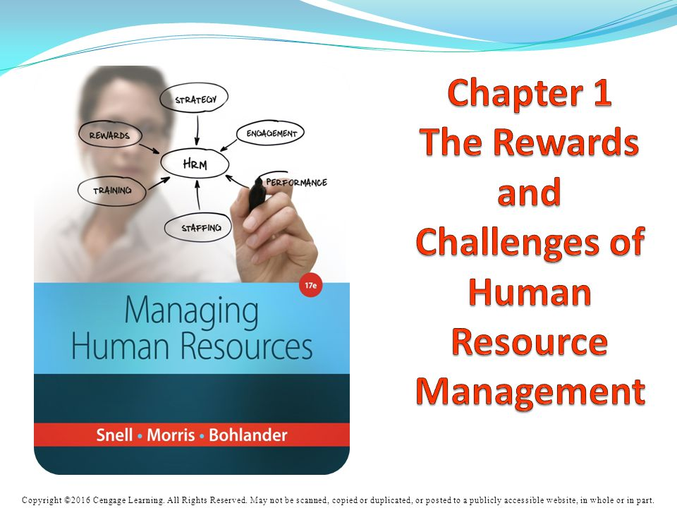 Chapter 1 The Rewards and Challenges of Human Resource Management